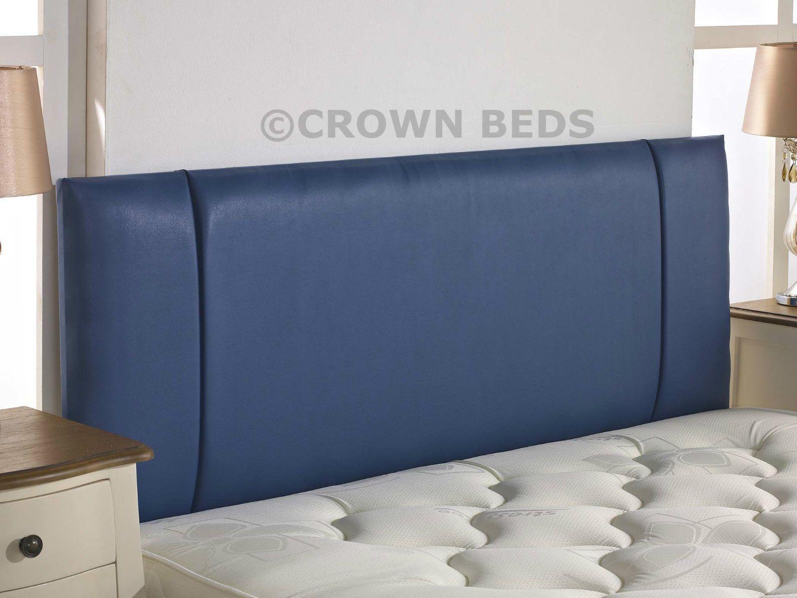 Home Deco Centre Faux Leather Portobello Headboard 2ft6 Small Single Blue