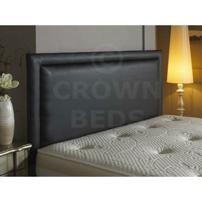 4FT SMALL DOUBLE BUMPER FRENZY FAUX LEATHER HEADBOARD BLACK