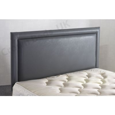 4FT6 DOUBLE BUMPER FRENZY FAUX LEATHER HEADBOARD GREY