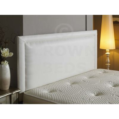 4FT SMALL DOUBLE BUMPER FRENZY FAUX LEATHER HEADBOARD WHITE