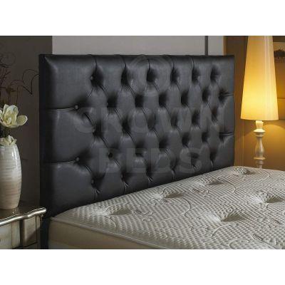Crown Faux Leather Plain Button Headboard 26''