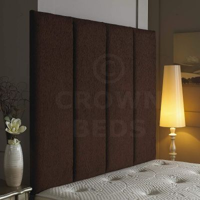 Alton Wall Headboard Chenille 44'' Height-BROWN-4FT6 DOUBLE