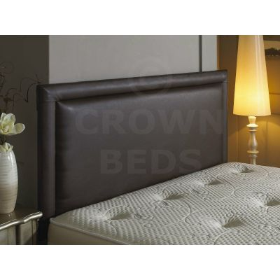 BUMPER FRENZY FAUX LEATHER HEADBOARD ALL SIZES VARIOUS COLOURS-6FT SUPER KINGSIZE-BROWN
