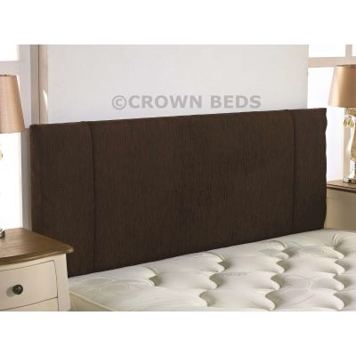 PORTOBELLO CHENILLE HEADBOARD 3FT SINGLE  BROWN