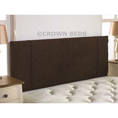 PORTOBELLO CHENILLE HEADBOARD 4FT SMALL DOUBLE  BROWN