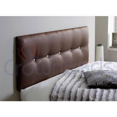 IZZABELLA FAUX LEATHER HEADBOARD ALL SIZES, COLOURS & CHOICE OF BUTTONS