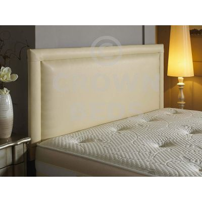 BUMPER FRENZY FAUX LEATHER HEADBOARD ALL SIZES VARIOUS COLOURS-6FT SUPER KINGSIZE-CREAM