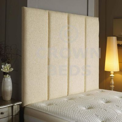 Alton Wall Headboard Chenille 36'' Height Various Colours All Sizes-CREAM-4FT6 DOUBLE