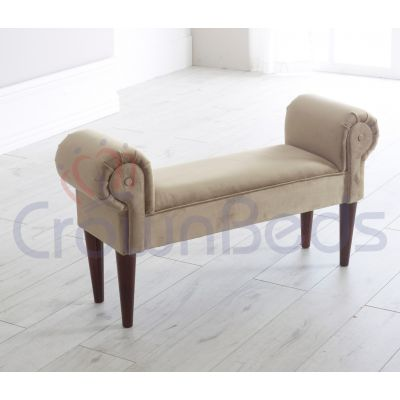 Chaise Longue / Lounge Bench Plush Velvet Various Colours