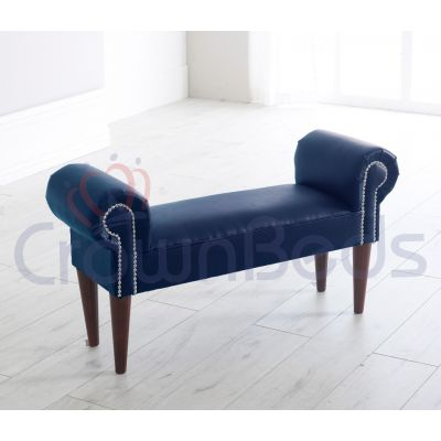 Chaise Longue / Lounge Bench Faux Leather Various Colours