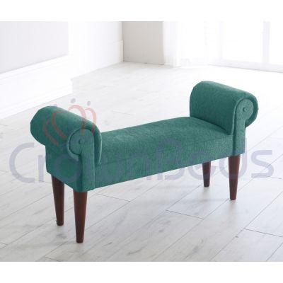 Chaise Longue / Lounge Bench Chenille Various Colours