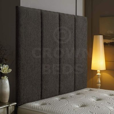 Alton Wall Headboard Chenille 36'' Height Various Colours All Sizes-GREY-4FT6 DOUBLE