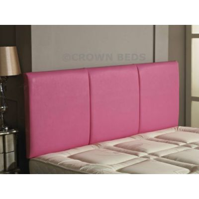 FAUX LEATHER ALTON HEADBOARD 4FT SMALL DOUBLE PINK