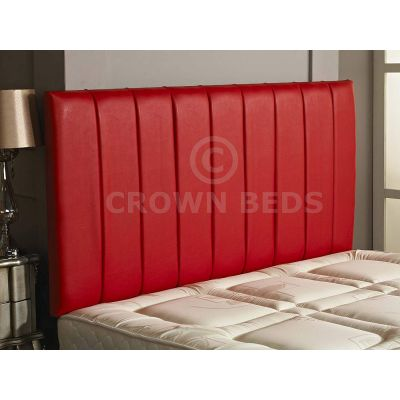 Apollo Faux Leather Headboard 26'' Height-RED-6FT SUPER KINGSIZE