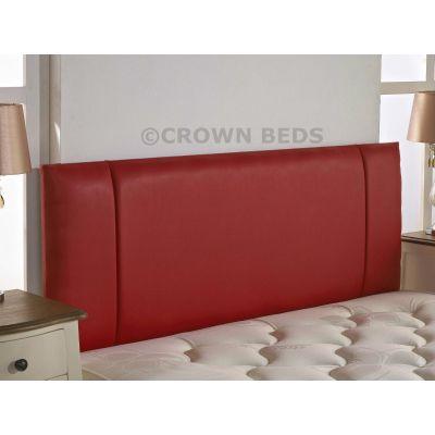FAUX LEATHER PORTOBELLO HEADBOARD 4FT6 DOUBLE RED