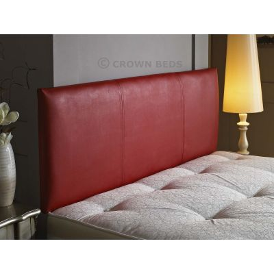 FAUX LEATHER VICTORIA HEADBOARD 4FT6  DOUBLE RED