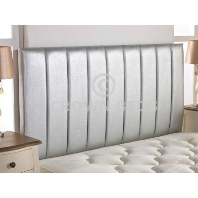 Apollo Faux Leather Headboard 26'' Height-SILVER-4FT SMALL DOUBLE