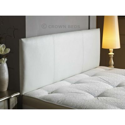 FAUX LEATHER VICTORIA HEADBOARD 4FT6 DOUBLE WHITE