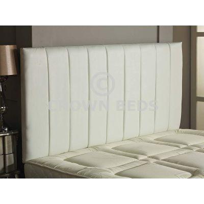 Apollo Faux Leather Headboard 26'' Height-WHITE-6FT SUPER KINGSIZE